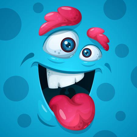 Ilustración de Funny, cute, crazy monster characters. Halloween illustration Vector eps 10 - Imagen libre de derechos