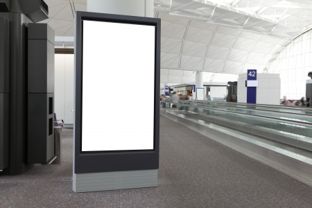 Blank Billboard in airport, shot in asia, hong kong