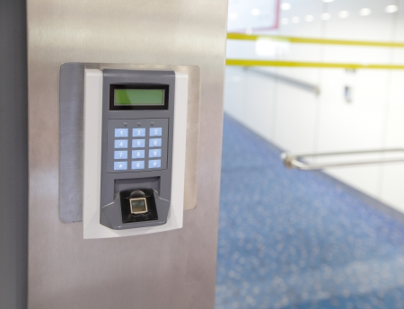 Foto de Security entrance Electronic door lock - Imagen libre de derechos