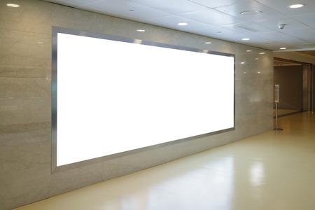 Foto de Blank Billboard in airport - Imagen libre de derechos