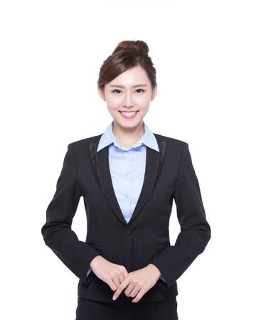 Foto de business woman isolated on white background, asian beauty - Imagen libre de derechos