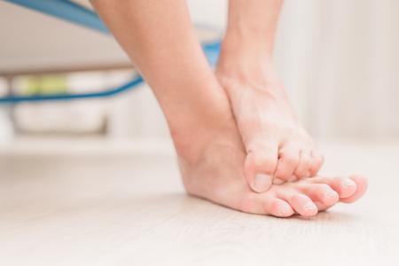 Foto de woman athlete foot close up with health concept - Imagen libre de derechos