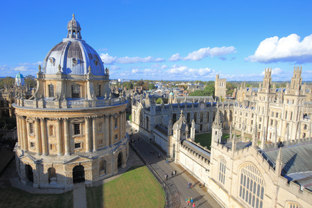 Photo for The Oxford University City with Photoed in the top of tower in St Marys Church - Royalty Free Image