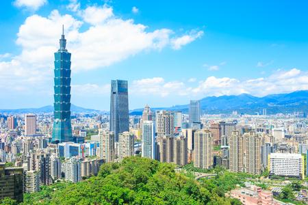 Photo pour morning taipei city panorama in the taiwan - image libre de droit
