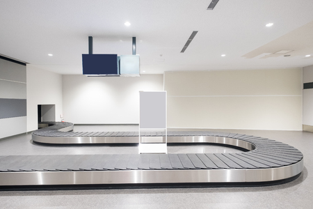 Photo pour Baggage conveyor belt at the airport in the japan - image libre de droit