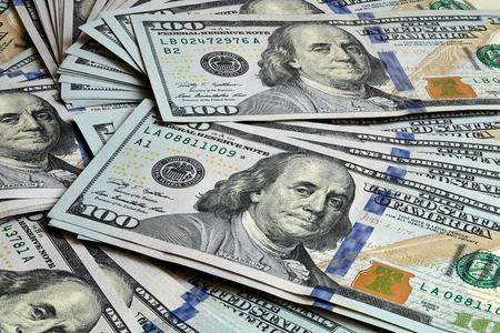 Foto de United States Dollar 2009 Series Focus Stacking Close Up Background - Imagen libre de derechos