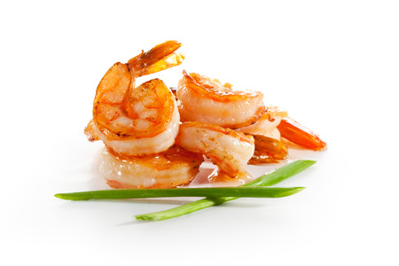 Shrimps Isolated over White