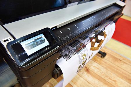 Foto de Large format printing on a color plotter - Imagen libre de derechos