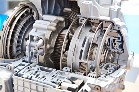Photo pour Gears of automatic transmission in section - image libre de droit