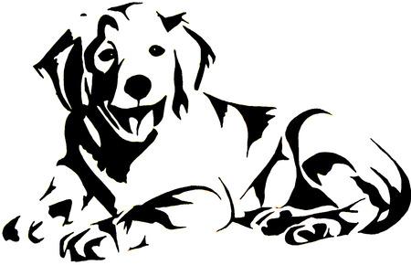 Illustration pour Golden Retrievel - image libre de droit