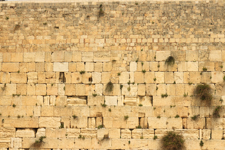 Foto de Closeup of wailing wall in Jerusalem city - Imagen libre de derechos