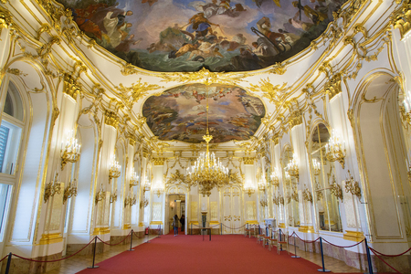 Foto de Austria, Vienna, Interior of Schonbrunn Palace - Imagen libre de derechos