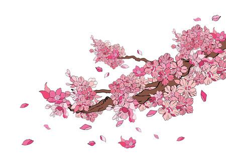 Ilustración de vector illustration  Graphic Tattoo Japanese Style Japan flower - Imagen libre de derechos