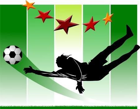 goalkeeper - the dangerous moment at gate;