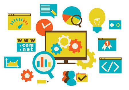 Ilustración de web development - Imagen libre de derechos