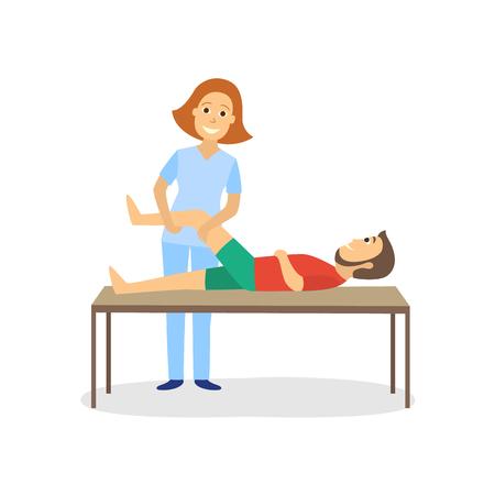 Ilustración de Physical therapy for disabled patient vector illustration. - Imagen libre de derechos
