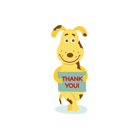 Illustrazione per Flat stylized humanized dog character vector illustration. - Immagini Royalty Free