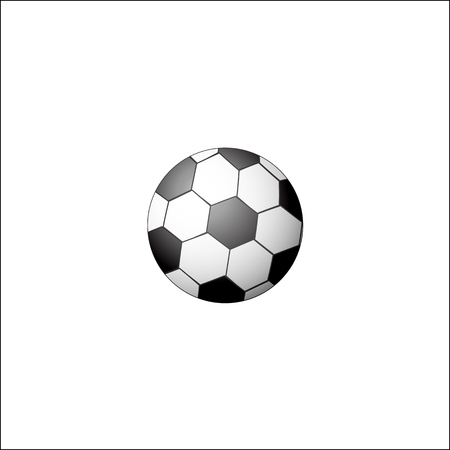 Illustration for Traditional soccer, football ball, realistic vector illustration isolated on white background. Flat style realistic black and white soccer, football ball - Royalty Free Image