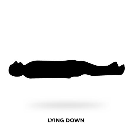 Ilustración de lying down silhouette Vector illustration. - Imagen libre de derechos