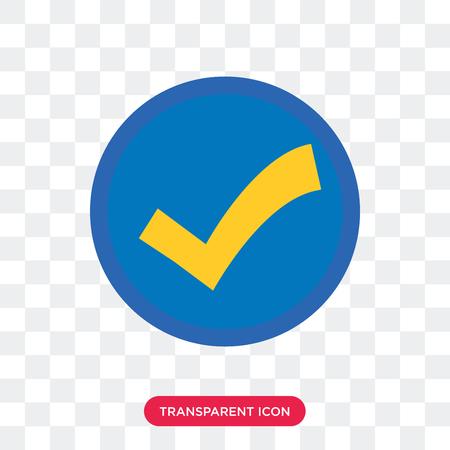 Illustration pour Accept vector icon isolated on transparent background, Accept logo concept - image libre de droit