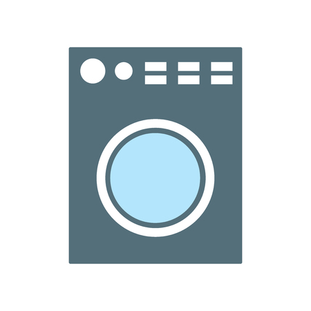 Ilustración de Washing machine icon vector isolated on white background for your web and mobile app design, Washing machine logo concept - Imagen libre de derechos