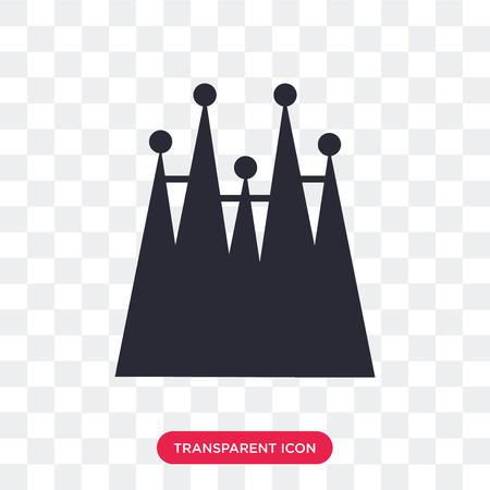 Ilustración de Familia building vector icon isolated on transparent background,  Familia building logo concept - Imagen libre de derechos