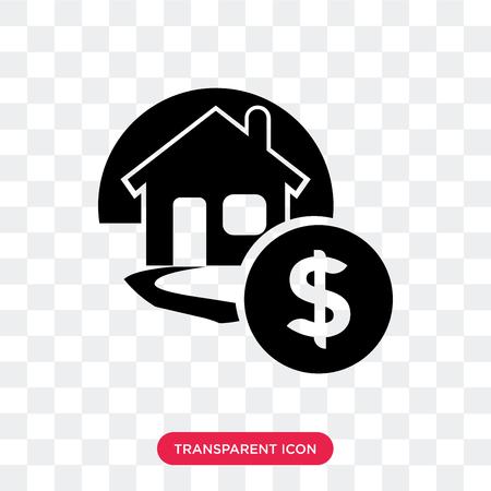 Illustration pour Mortgage vector icon isolated on transparent background, Mortgage logo concept - image libre de droit