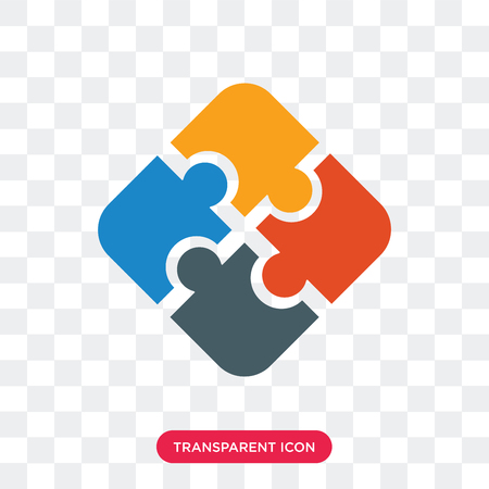 Illustration pour Jigsaw vector icon isolated on transparent background, Jigsaw logo concept - image libre de droit