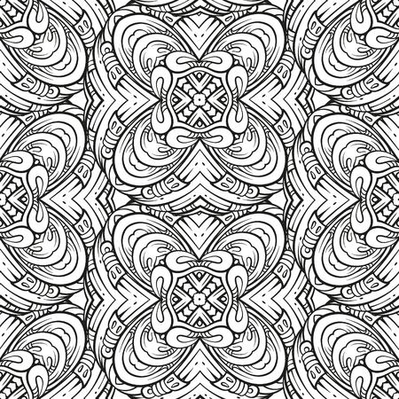 Ilustración de Vector abstract pattern page for antistress coloring - Imagen libre de derechos