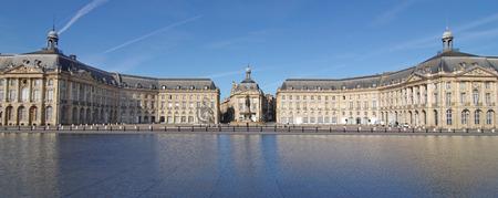 Photo pour Bordeaux town Place de la bourse, gironde, aquitaine france - image libre de droit