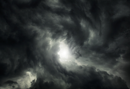 Photo for White Hole in the Whirlwind of the Dark Storm Clouds - Royalty Free Image