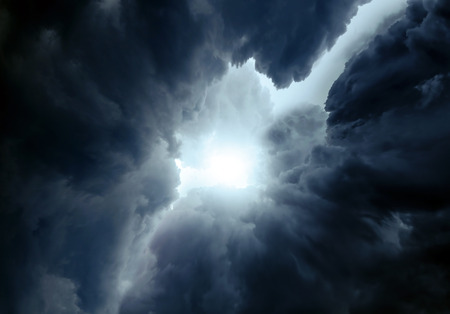 Photo for Light in the Dark and Dramatic Storm Clouds - Royalty Free Image