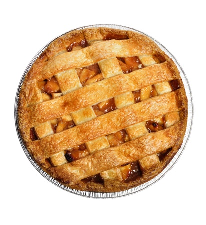 Photo for Apple Pie Isolated On White , Top View  - Royalty Free Image