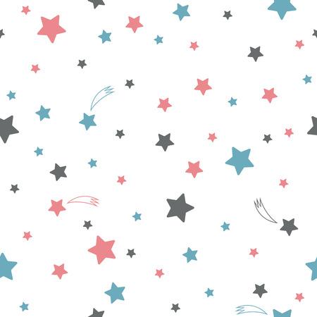 Illustration pour Cute seamless pattern with stars - image libre de droit