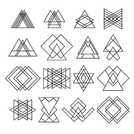 Illustration for Set of trendy hipster geometric shapes.  - Royalty Free Image