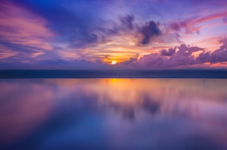 Photo for Sunset in the sea in Thailand - Royalty Free Image