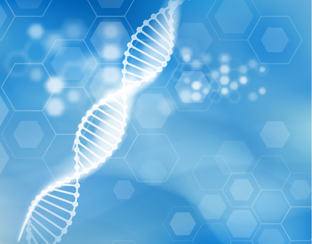 Photo pour DNA strand scientific vector background. - image libre de droit
