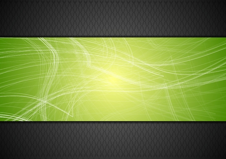 Illustration for Abstract tech background with lines. Vector design - Royalty Free Image