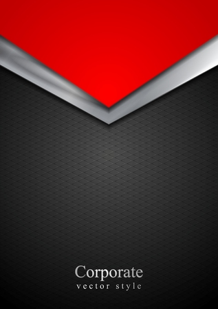 Foto de Dark silver and red tech arrows design. Vector background - Imagen libre de derechos