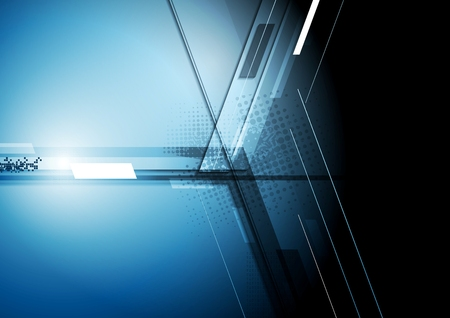 Foto de Technical dark corporate background. Vector design - Imagen libre de derechos