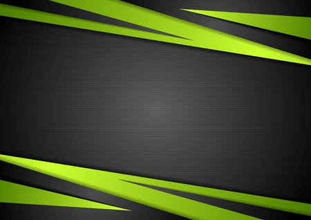Foto de Black and green abstract design. Vector background - Imagen libre de derechos