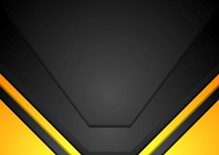 Ilustración de Yellow and black corporate art background. Vector design - Imagen libre de derechos
