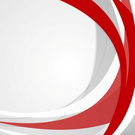 Foto de Abstract red wavy corporate background. Vector design - Imagen libre de derechos