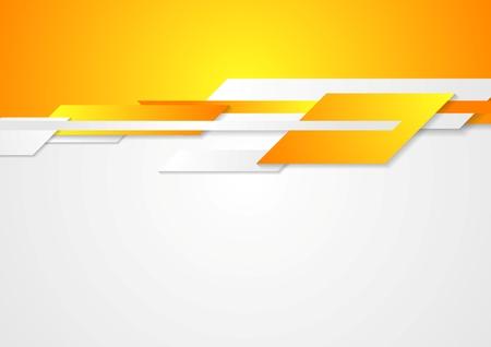 Ilustración de Bright  design. Geometric shapes on white and orange background - Imagen libre de derechos