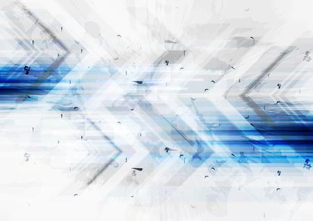 Illustration for Grunge tech background with arrows. Vector illustration - Royalty Free Image