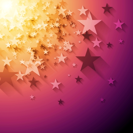 Illustration pour Bright stars abstract background. Vector design - image libre de droit