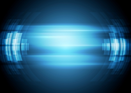 Illustration pour Abstract blue hi-tech background. - image libre de droit