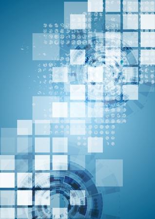 Ilustración de Bright blue tech background. Vector design - Imagen libre de derechos