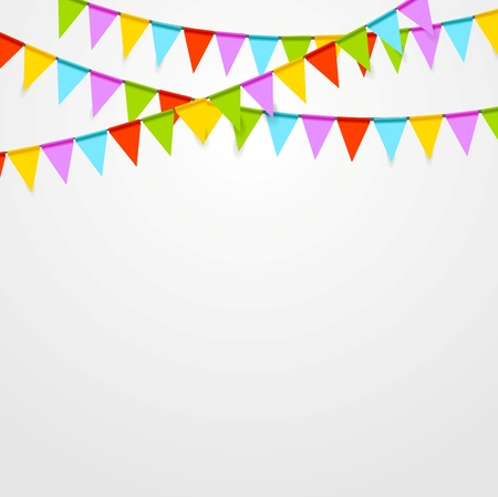 Illustration pour Party flags celebrate bright abstract background. Vector art design - image libre de droit