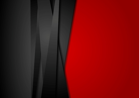 Foto de Red and black abstract striped background. Corporate vector design - Imagen libre de derechos